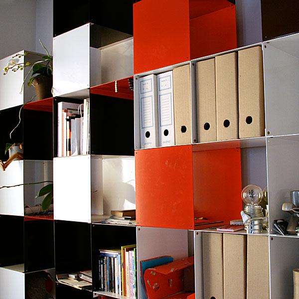 biblioth ques design tag res modulables cubes de rangement quad35. Black Bedroom Furniture Sets. Home Design Ideas